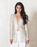 Jetset Diaries Gold Sequins Last Flowers Jacket