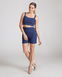 Joa Navy Crop Top