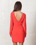Stylestalker Azaleas Long Sleeve Coral Dress
