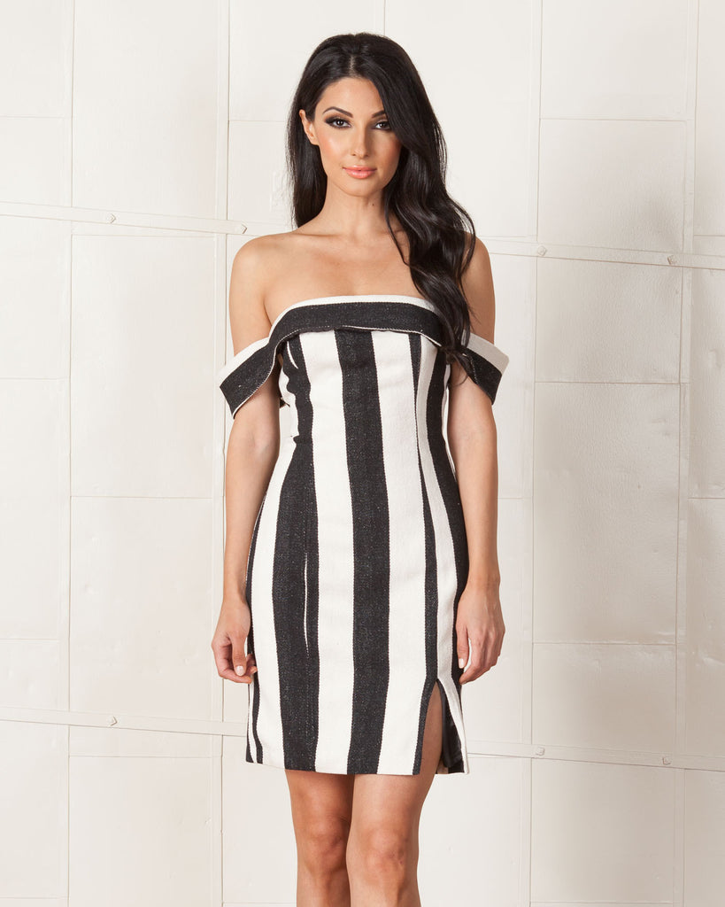 Line & Dot Striped Equilibrium Tube Dress