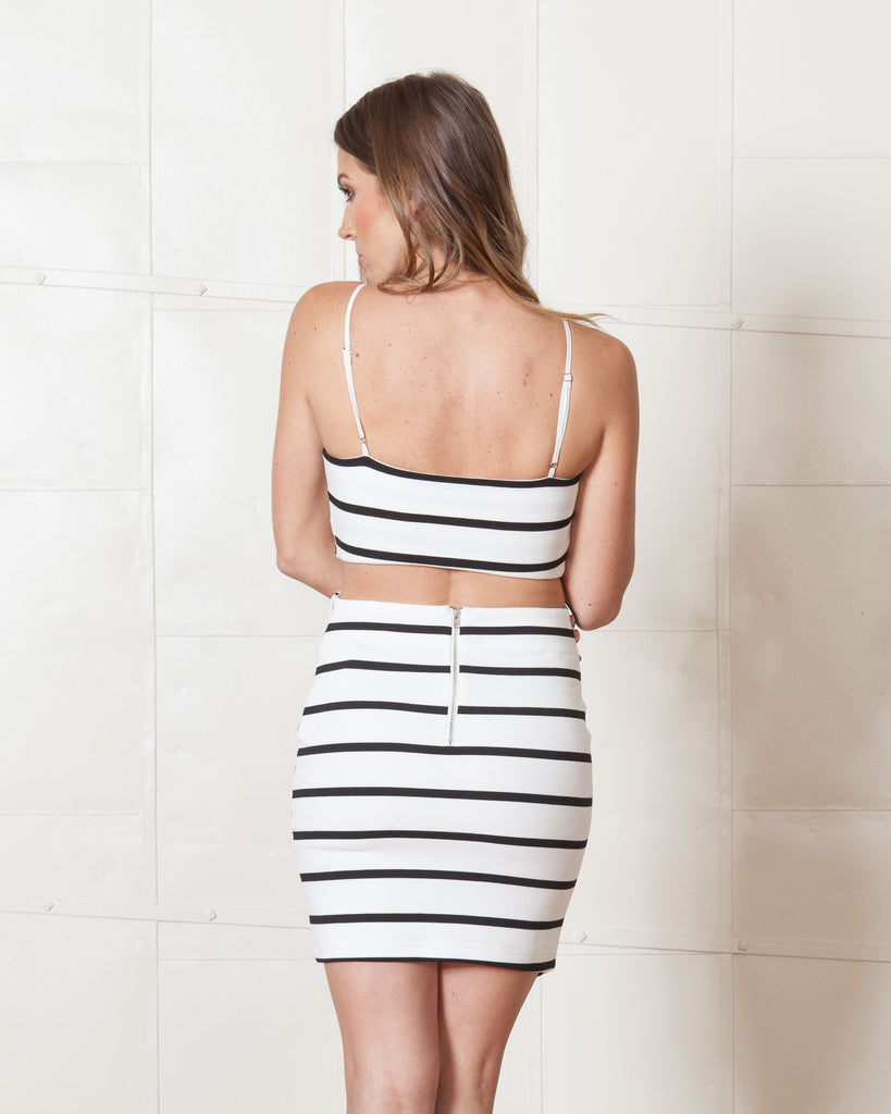Wyldr Dazed Black & White Striped Dress