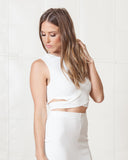Fifth Label Ivory Starstruck Crop Top