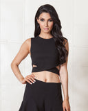 Fifth Label Black Starstruck Crop Top