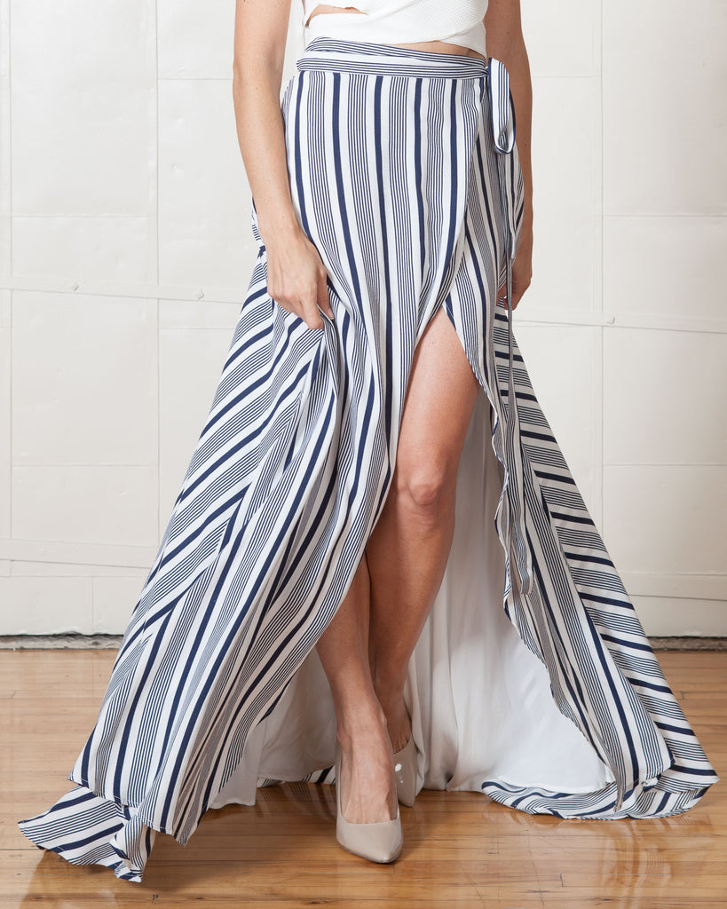 Jetset Diaries Striped Her Allies Maxi Skirt