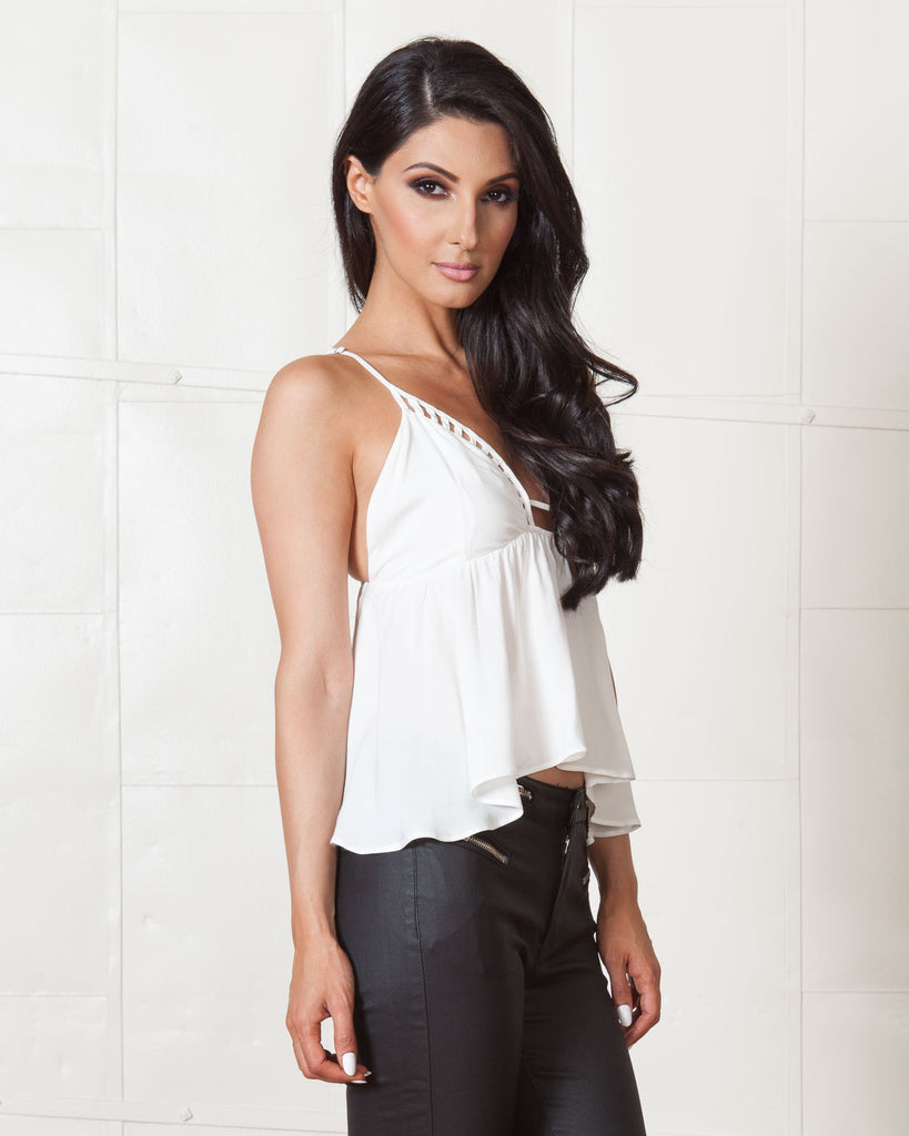 Wyldr White Sunset Top