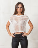 Minkpink White Tied Up Crop Top