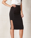 Cameo Black Airplane Skirt