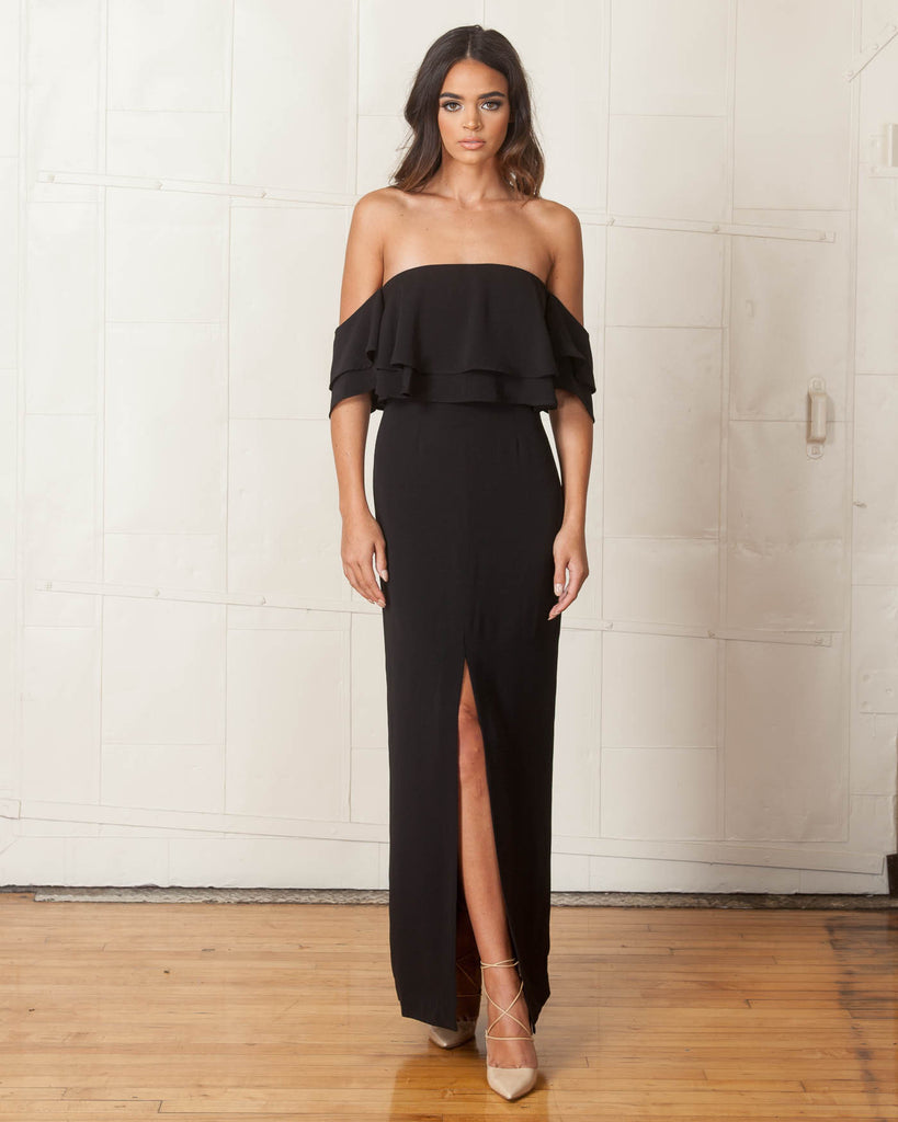 Keepsake Two Fold Black Maxi Dress