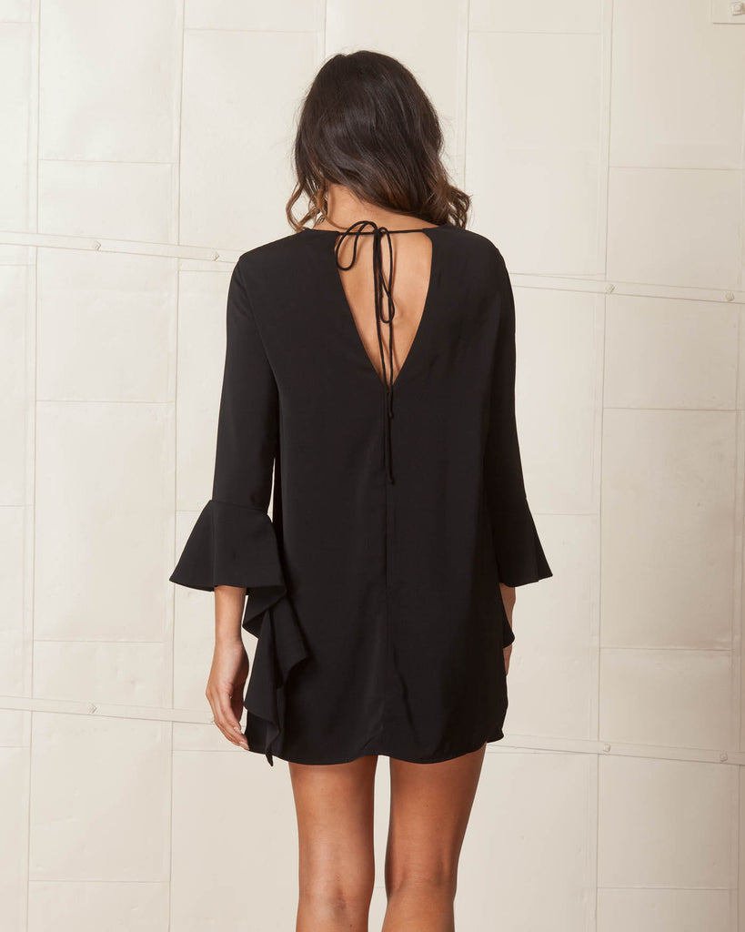 Cameo Black Spelt Out Long Sleeve Dress
