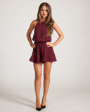 Fifth Label Front Seat Burgundy Playsuit