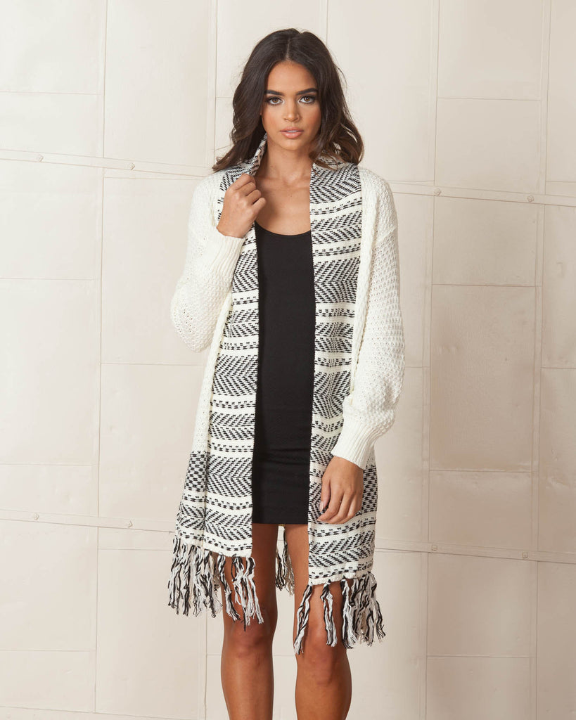 Lost In Lunar Euphoria Knit Cardigan Fashtique
