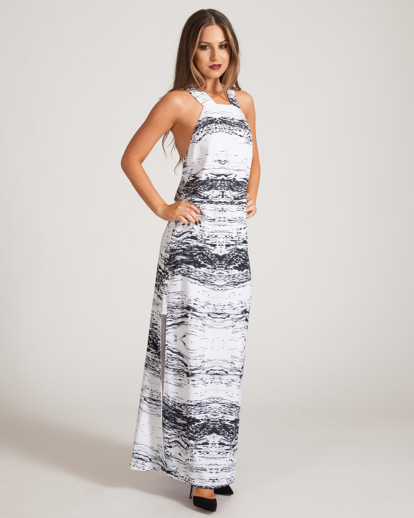 fac8512450bcf Cameo Fracture Maxi Dress – FASHTIQUE