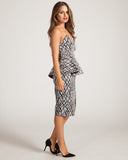 Keepsake Stolen Hearts Black & White Dress