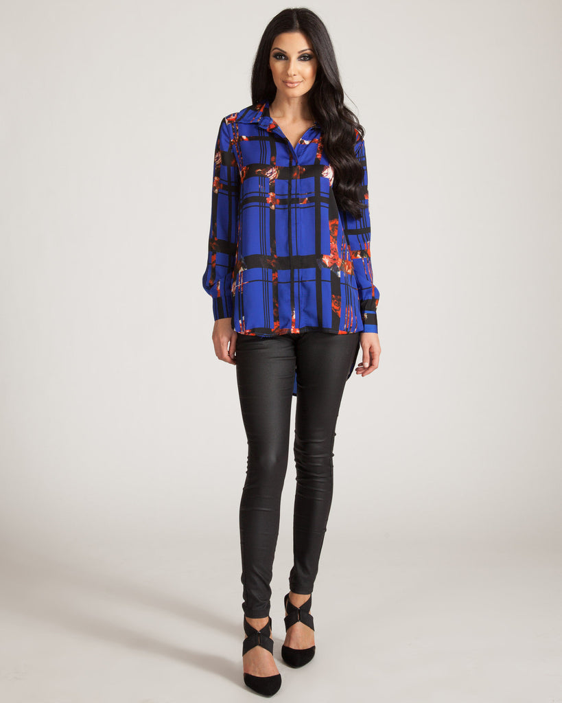 Wyldr Easy Does It Rose Print Blouse