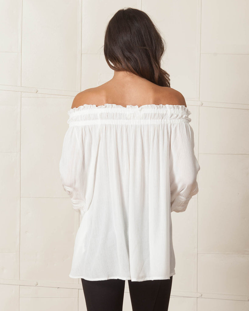 Lost in Lunar White Casablanca Top