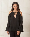 WYLDR Black Electric Love Blouse