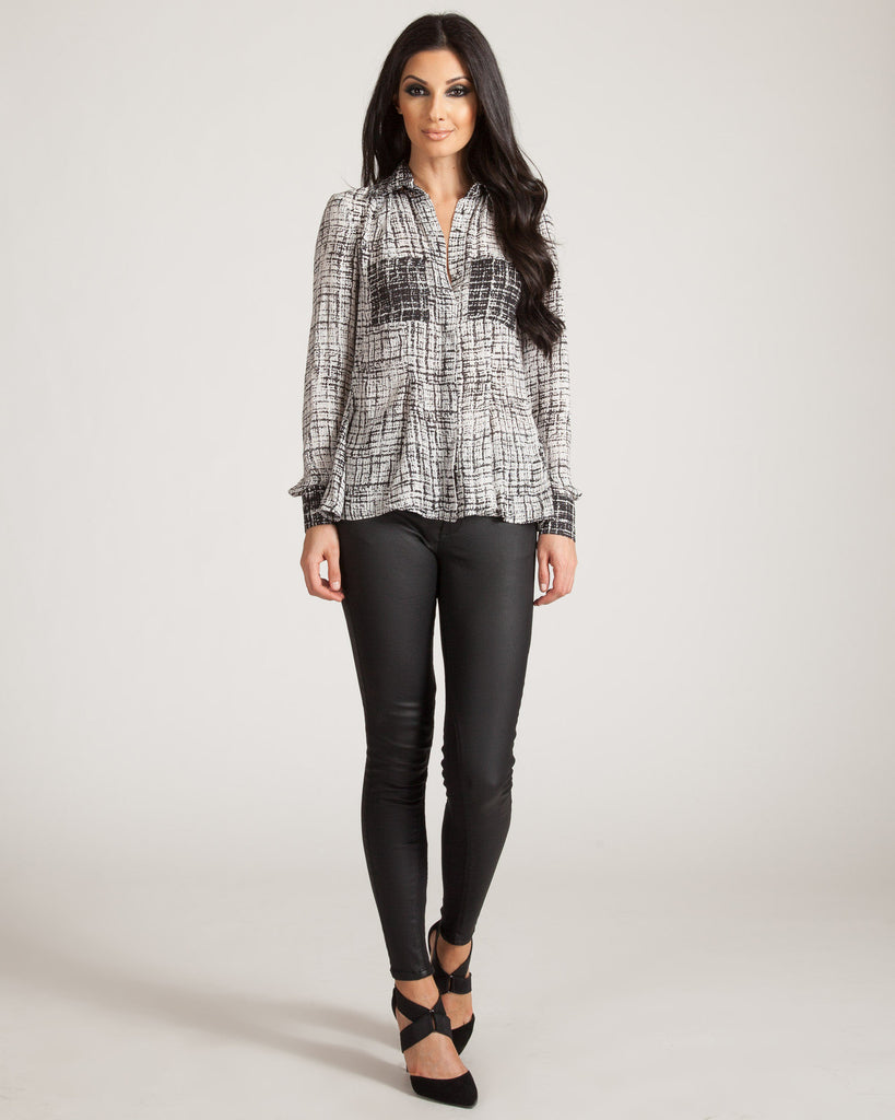 Jaggar Herron Black & White Blouse