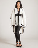 Three Of Something Cream Icicle Blanket Coat