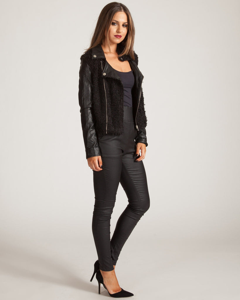 Wyldr Wreckless Black Fur Jacket