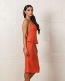 Finders Keepers Stand Still Terracotta Dress