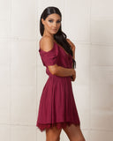 Jetset Diaries Burgundy Mantra Dress