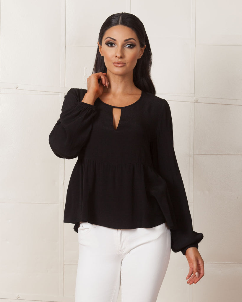 MINKPINK Stand By Me Black Blouse