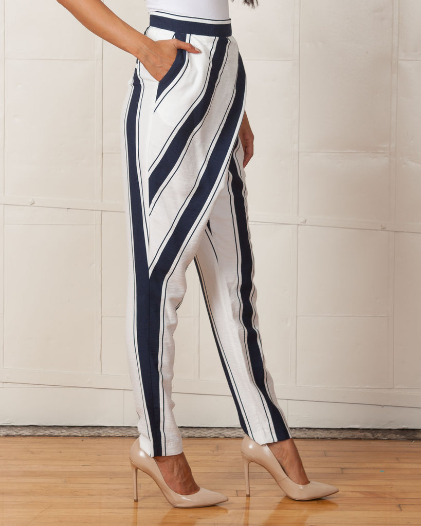Finders Keepers Walk Away Striped Pants