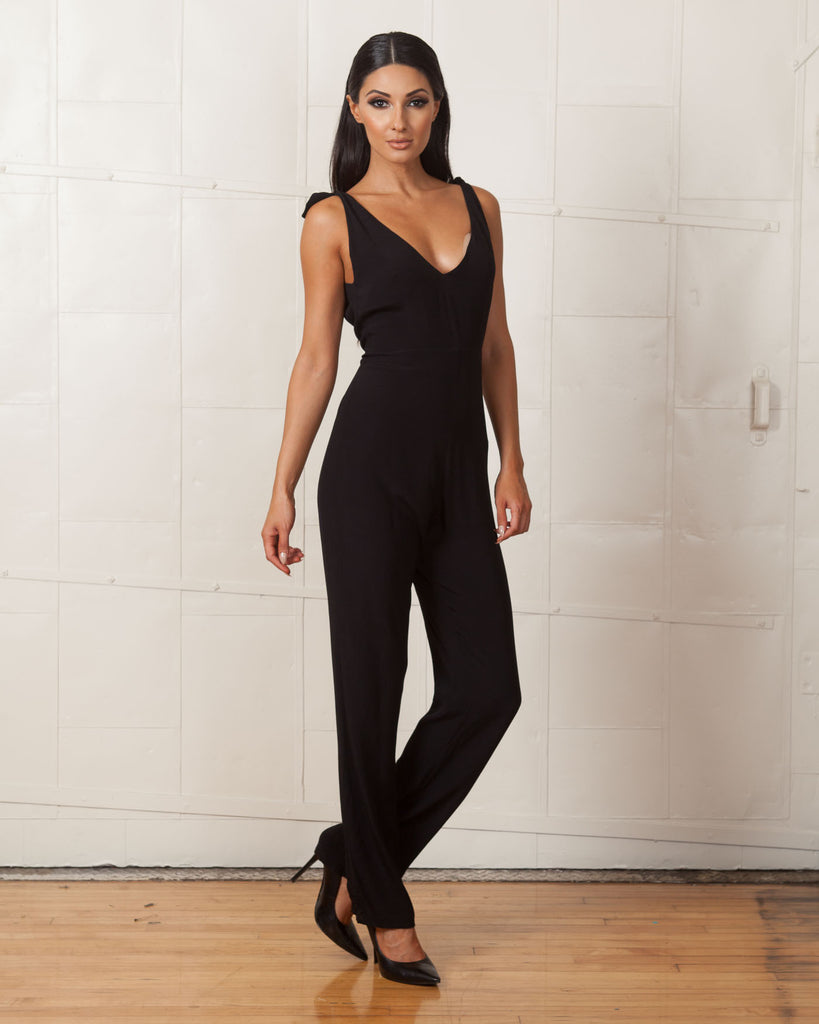 For Love And Lemons Black Midnight Tide Jumpsuit Fashtique