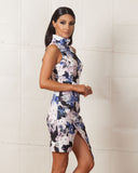 Keepsake Subtract Floral Dress