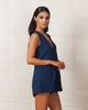 Keepsake Steal The Light Navy Playsuit