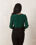Line & Dot Silky Green Blouse