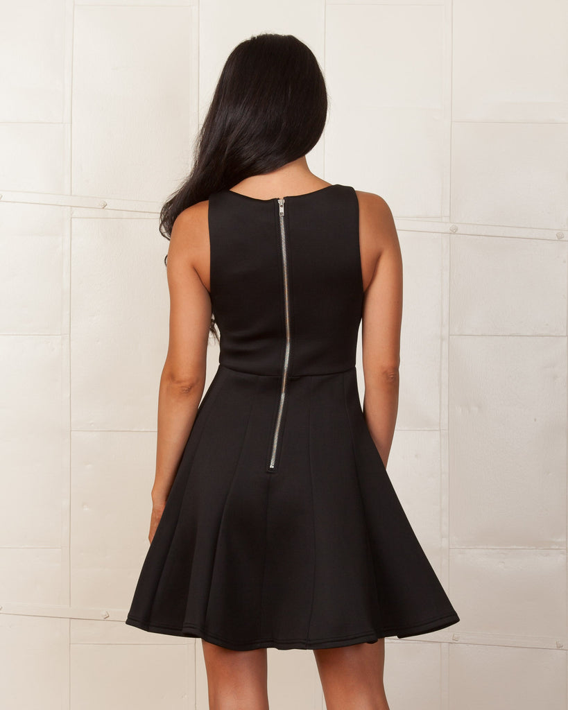 MINKPINK Black Stagnant Jersey Dress