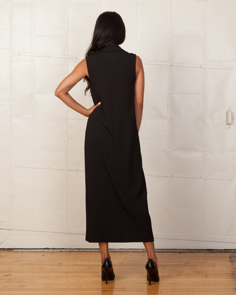 Twin Sister Black Sleeveless Overcoat