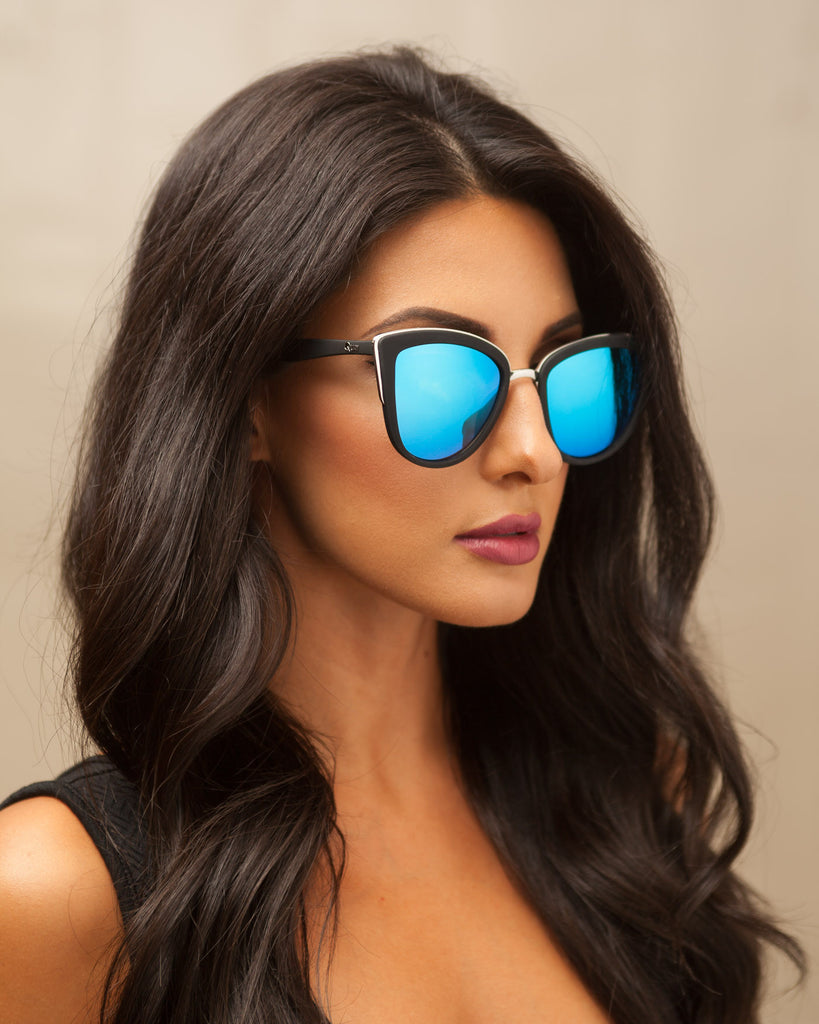 cdd7a60f906 Quay girl blue mirror sunglasses fashtique jpg 819x1024 Blue girl sunglasses