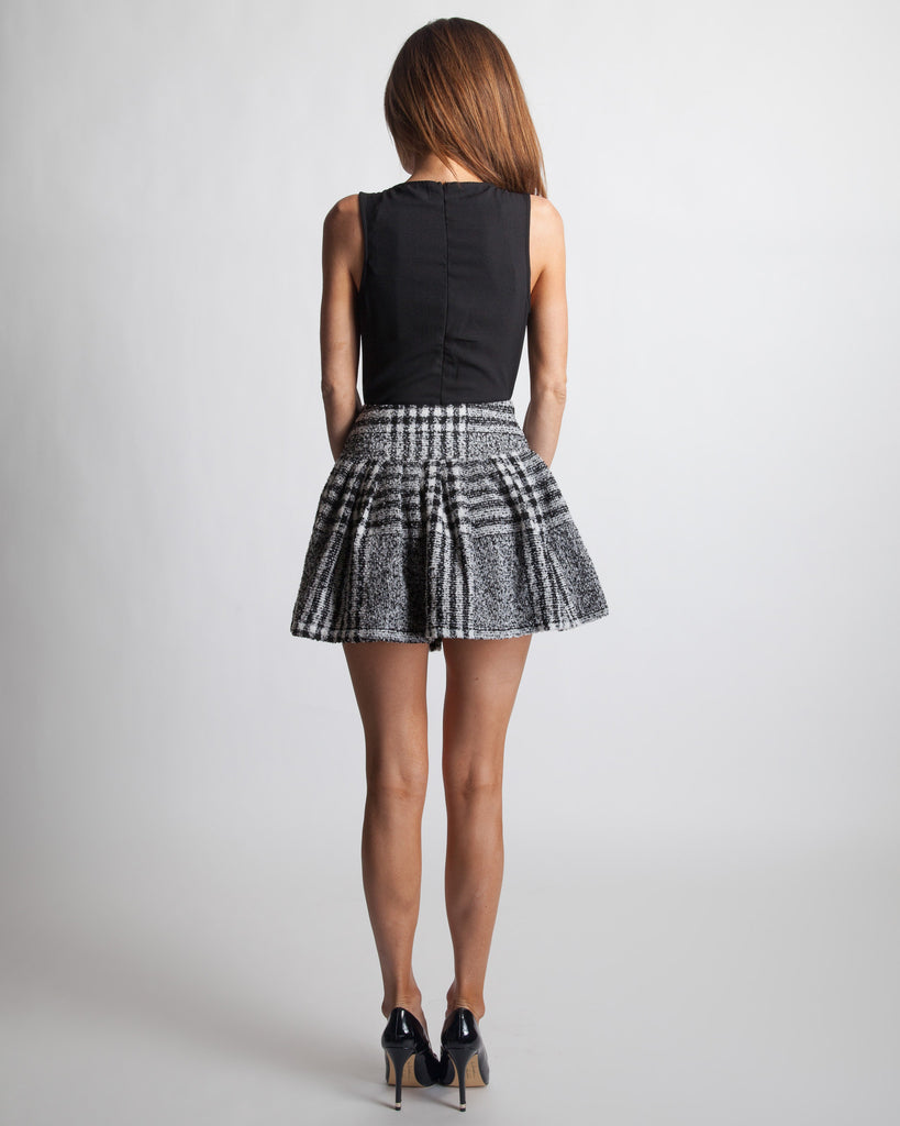 Joa Plaid Mini Skater Skirt