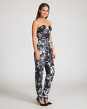 Keepsake Run Free Pantsuit-Black Floral Print