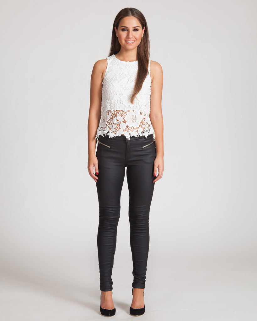 Madison Square Lucy Lace White Top