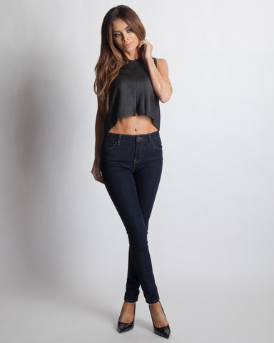 Madison Square Matilda Lace Black Crop Top