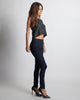 Madison Square Black Sleeveless Crop Top