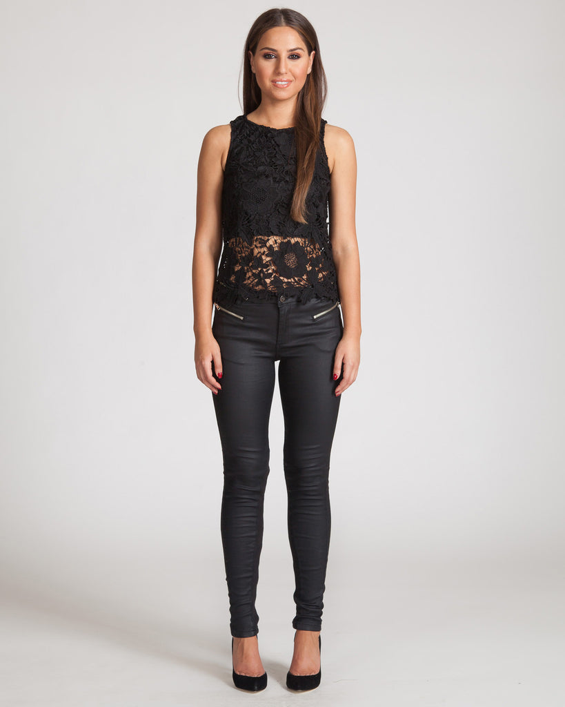Madison Square Lucy Lace Black Top