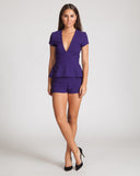 Three Of Something Regime Playsuit-Violet