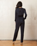 Fifth Label Stay Awhile Navy Jumpsuit