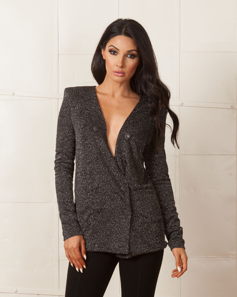 WYLDR Warning Black Blazer
