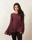 Jetset Diaries Verona Bordeaux Blouse
