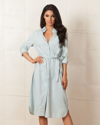 Madison Square Lost In Transit Chambray Dress