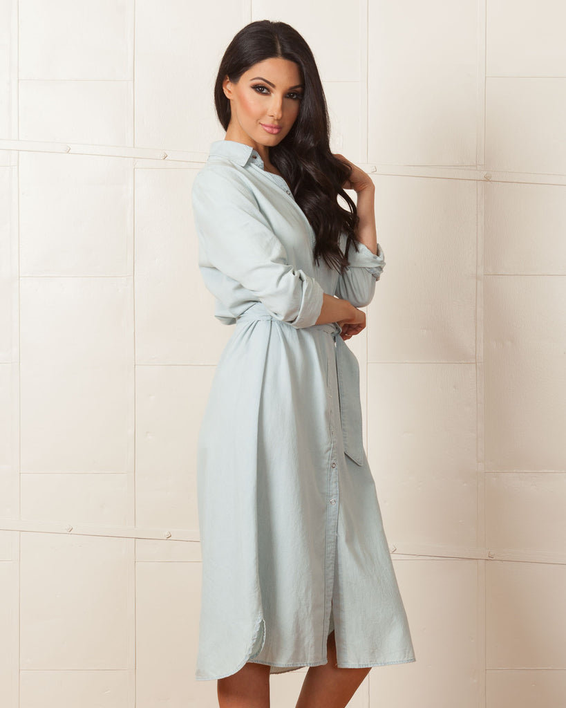 Fifth Label Chambray All In One Shirt Dress