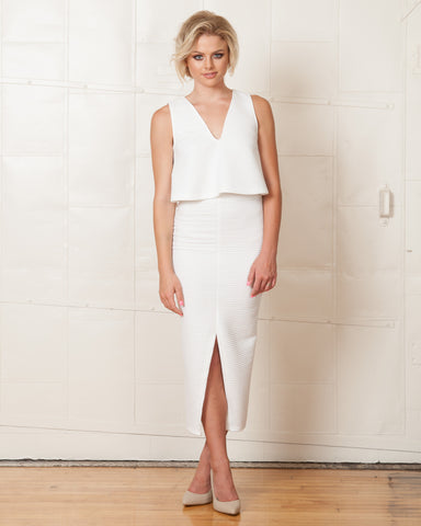 Keepsake White Holding Back Pantsuit