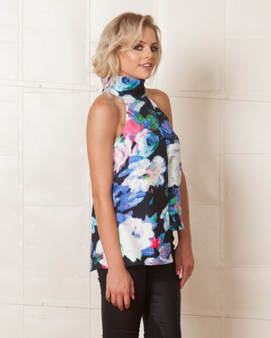 Keepsake Grey Tessellate Top