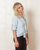 Minkpink Dance In The Rain Chambray Top