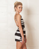 Madison Square Katia Black & White Romper
